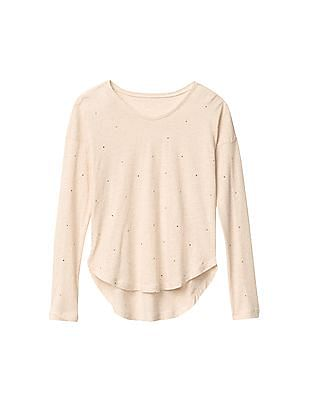 GAP Girls Long Sleeve High Low Tee