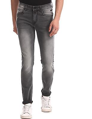 Flying Machine Grey Jackson Skinny Fit Low Rise Jeans