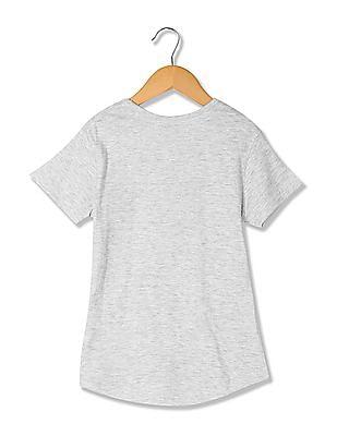 Cherokee Girls Printed Front Knit T-Shirt