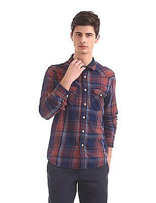 Cherokee Dual Pocket Check Shirt