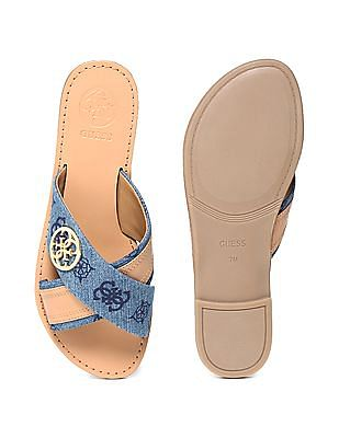 GUESS Crossover Strap Flat Sandals
