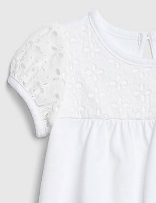 GAP Baby Girl White Eyelet Body Double