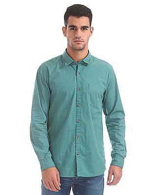 Ruggers Contemporary Fit Printed Shirt
