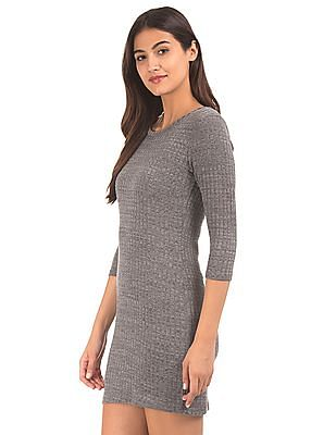 Cherokee Ribbed Knit Sweater Dress