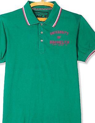 Flying Machine Short Sleeve Rear Print Polo Shirt