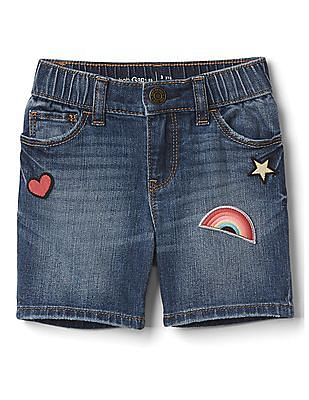 GAP Toddler Girl Stretch Graphic Patch Shorty Shorts