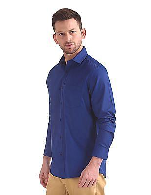 Excalibur Classic Regular Fit Oxfords Shirt