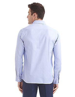 Arrow Regular Fit Houndstooth Pattern Shirt