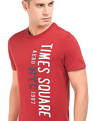 Aeropostale Appliqued Round Neck T-Shirt