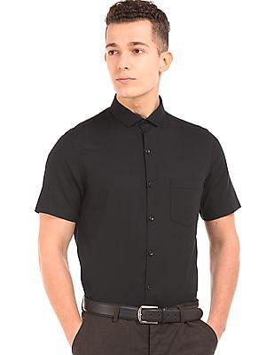 Elitus Short Sleeve Patterned Weave Shirt