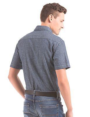 Nautica Striped Chambray Shirt