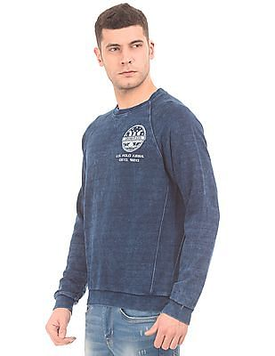U.S. Polo Assn. Denim Co. Washed Round Neck Sweatshirt