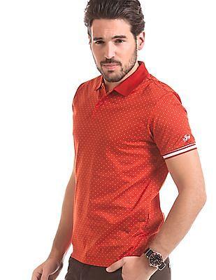 Izod Printed Slim Fit Polo Shirt