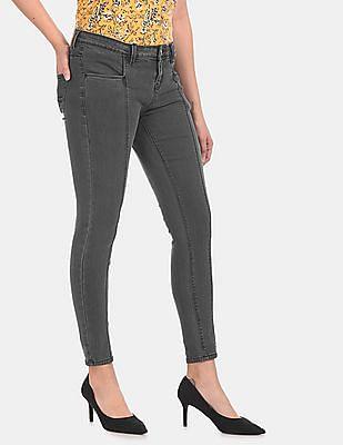 Cherokee Women Grey Skinny Fit Panelled Jeans