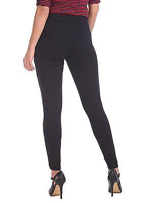 Elle Studio Elasticized Waist Panelled Pants