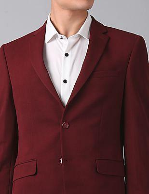 True Blue Slim Fit Textured Blazer
