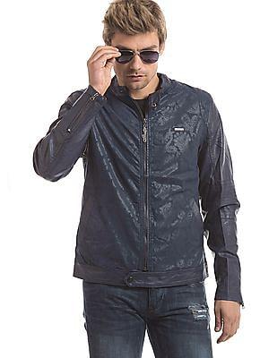 Ed Hardy Printed Biker Jacket