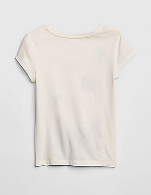 GAP Girls Graphic Glitter Short Sleeve T-Shirt