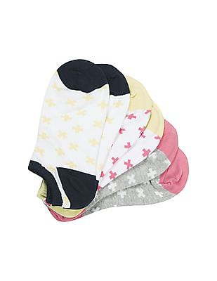 Aeropostale Cotton Stretch Ankle Socks - Pack Of 3