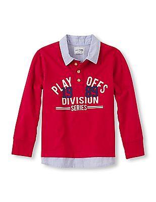 The Children's Place Boys Long Sleeve Shirt Collar T-Shirt