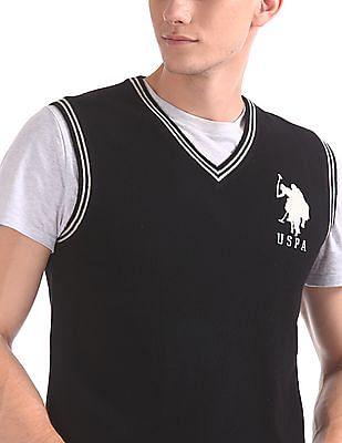 U.S. Polo Assn. Wool Blend Sleeveless Sweater