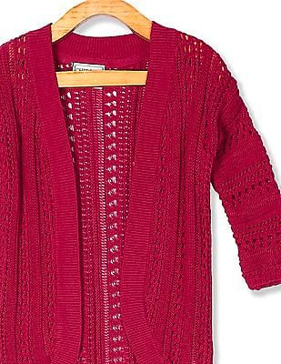 Cherokee Red Girls Open Front Knit Shrug