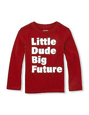 The Children's Place Baby Boy Long Sleeve Graphic Print T-Shirt