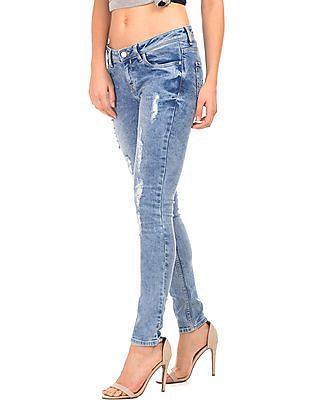 Elle Distressed Super Skinny Fit Jeans