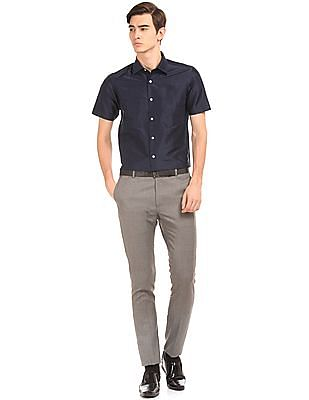 Arrow Regular Fit Silk Shirt
