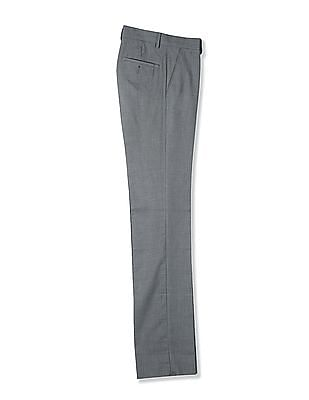 Arrow Slim Fit Houndstooth Pattern Trousers