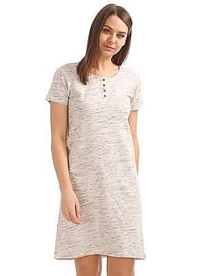 SUGR Heathered Active T-Shirt Dress
