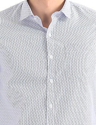 Excalibur Checked Weave Cotton Shirt