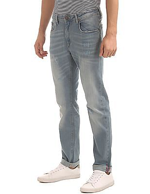 Cherokee Straight Fit Whiskered Jeans