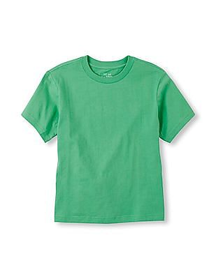 The Children's Place Boys Short Sleeve Solid Basic Tee