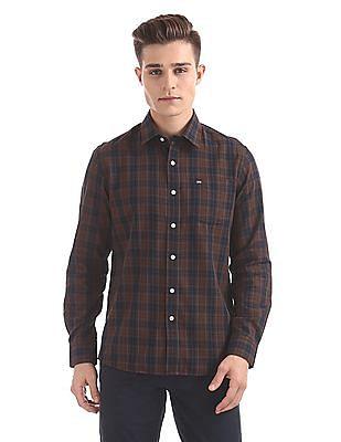 Arrow Sports Slim Fit Spread Collar Shirt