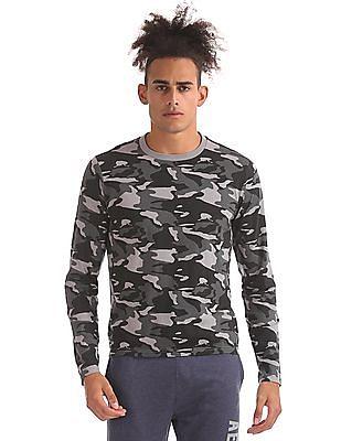 Aeropostale Long Sleeve Camo Print T-Shirt