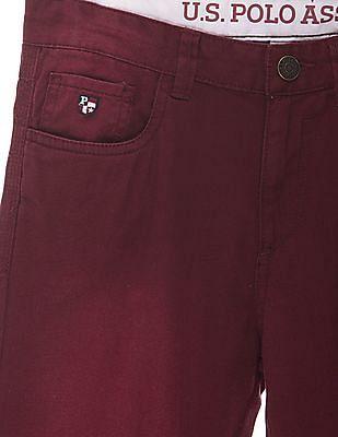 U.S. Polo Assn. Kids Boys Slim Fit Twill Trousers