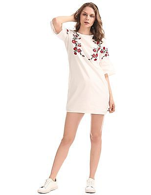 SUGR Embroidered Shift Dress