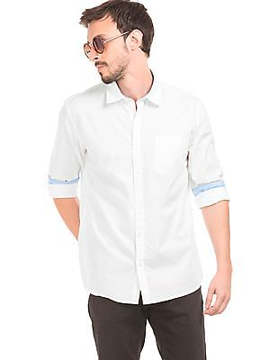 Ruggers Solid Semi Cutaway Collar Shirt