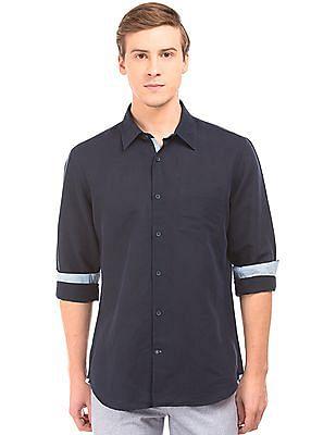 Arvind Slim Fit Linen Cotton Shirt