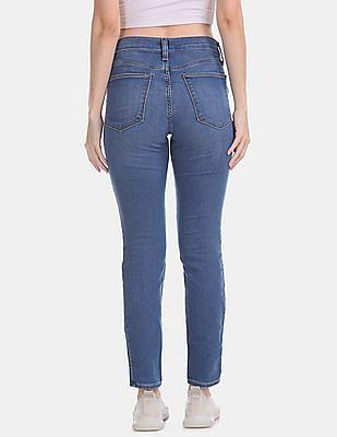 GAP Blue Skinny Fit Whiskered Jeans