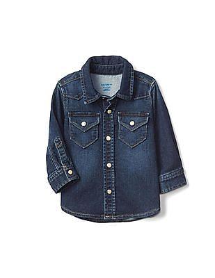 GAP Baby Super Soft Denim Western Shirt