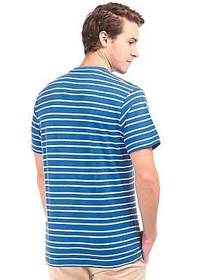 Nautica Striped Regular Fit Henley T-Shirt