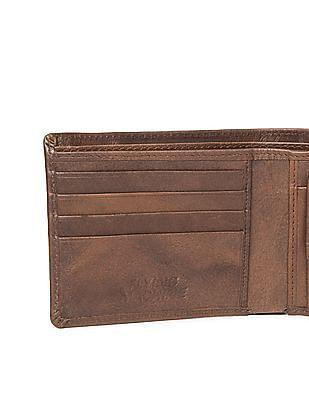 Flying Machine Burnished Leather Bi-Fold Wallet