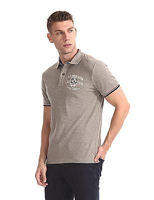 U.S. Polo Assn. Denim Co. Grindled Pique Polo Shirt