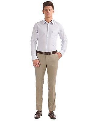 USPA Tailored Micro Check Slim Fit Trousers