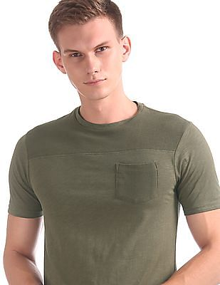 Cherokee Slim Fit Panelled T-Shirt