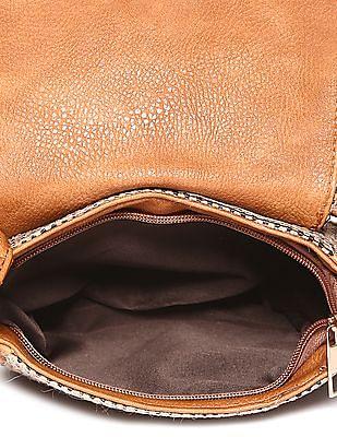 SUGR Magnetic Snap Jute Sling Bag