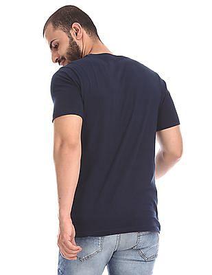 Colt Blue Crew Neck Graphic T-Shirt