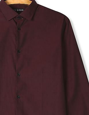 Arrow Newyork French Placket Solid Shirt